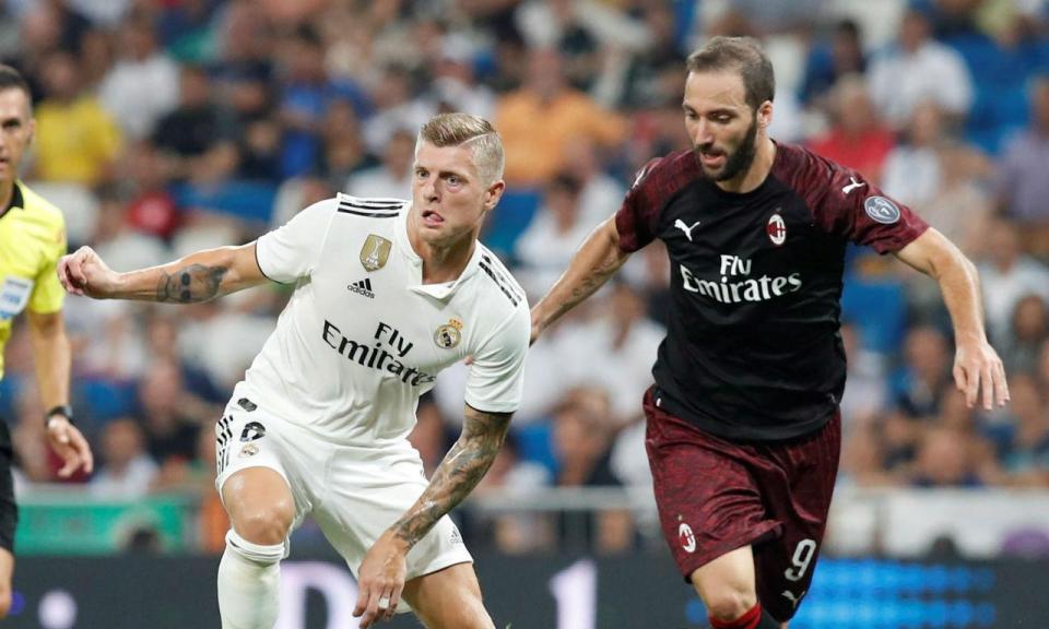 Real Madrid vence Milan no regresso ao Bernabéu sem Ronaldo