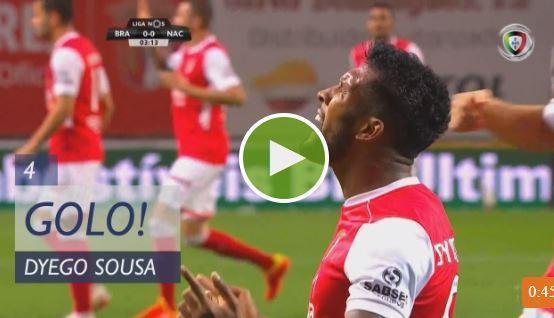 VÍDEO: Dyego Souza com pressa de adiantar o Sp. Braga
