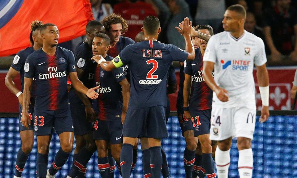 Neymar começa, Weah termina a vitória do PSG sobre o Caen