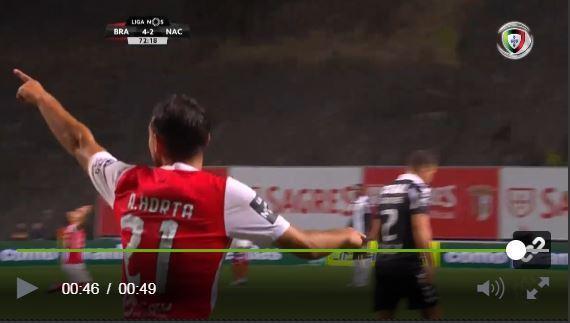VÍDEO: uma bela jogada e Ricardo Horta também marca a dobrar