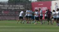 Benfica: André Almeida falhou treino