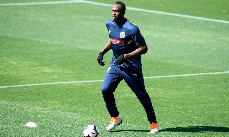 Del Bosque vê potencial em Usain Bolt para jogar na ala