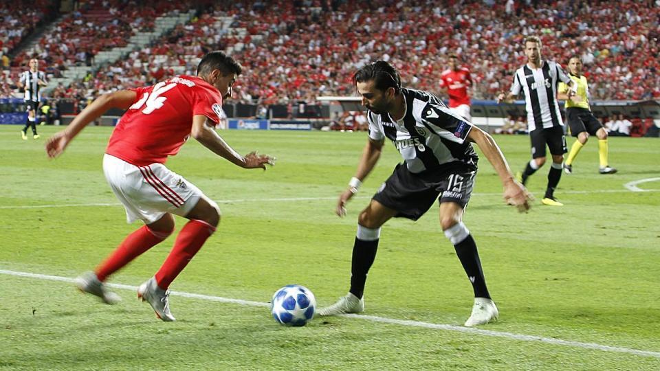PAOK-Benfica (onzes): Salvio e Seferovic titulares