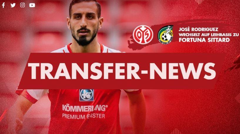 OFICIAL: José Rodriguez emprestado pelo Mainz ao Fortuna Sittard