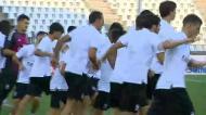 Salvio treinou no Estádio Toumba