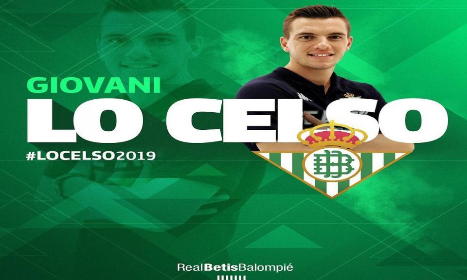 Betis oficializa chega de Lo Celso