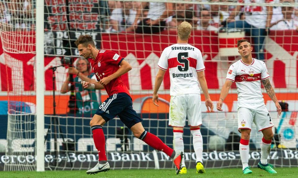 Atenção Benfica: Bayern passeia em Estugarda com Goretzka, Müller e Lewandowski em grande