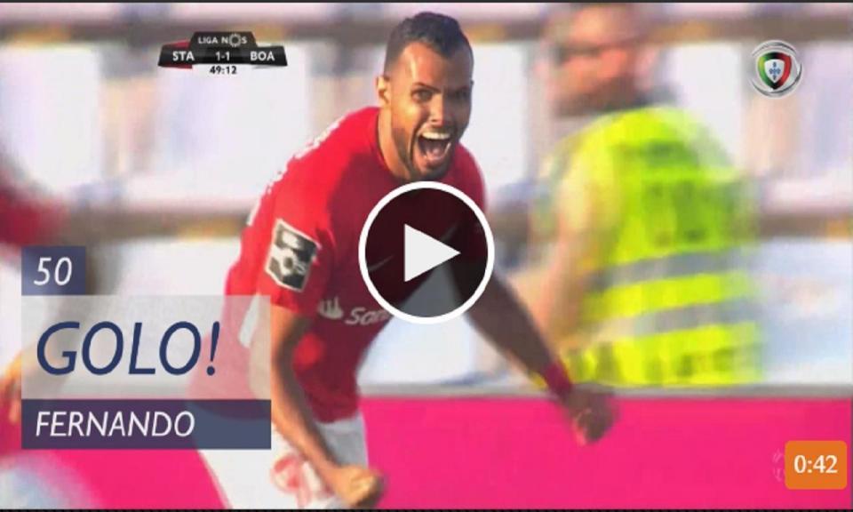 VÍDEO: Fernando recoloca o Santa clara em vantagem