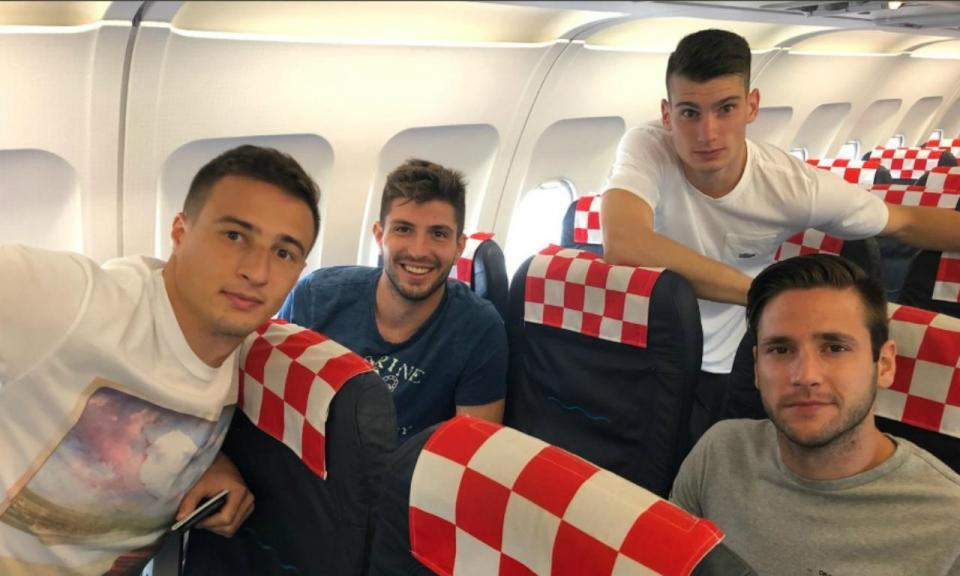 FOTOS: Croácia já está a caminho de Portugal