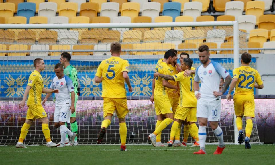 Liga Nações: Ucrânia vence Eslováquia à porta fechada
