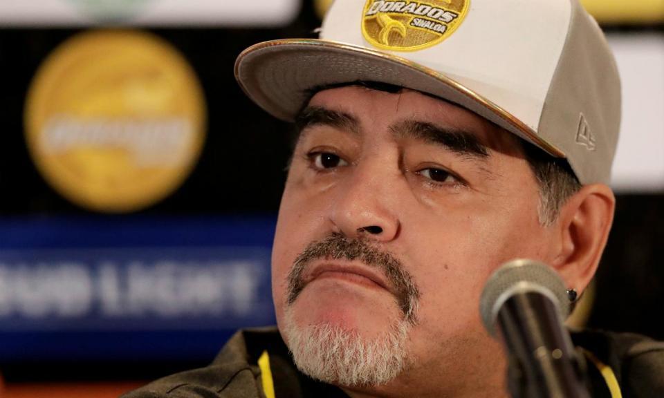 Diego Maradona falha treino do Dorados de Sinaloa