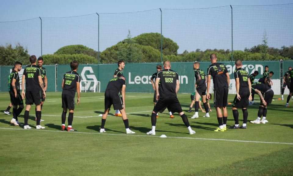 Sporting: Battaglia e Acuña já treinaram com o plantel