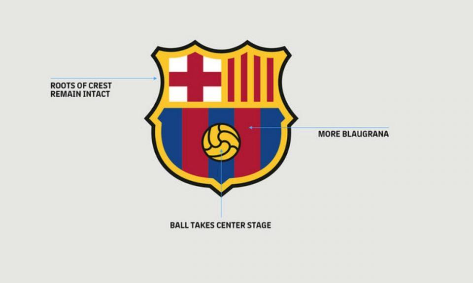 Barcelona anuncia alterações ao emblema