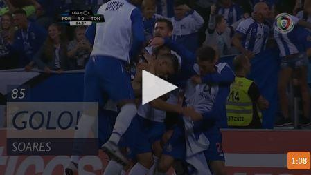 VÍDEO: regressado Tiquinho marcou golo solitário do FC Porto