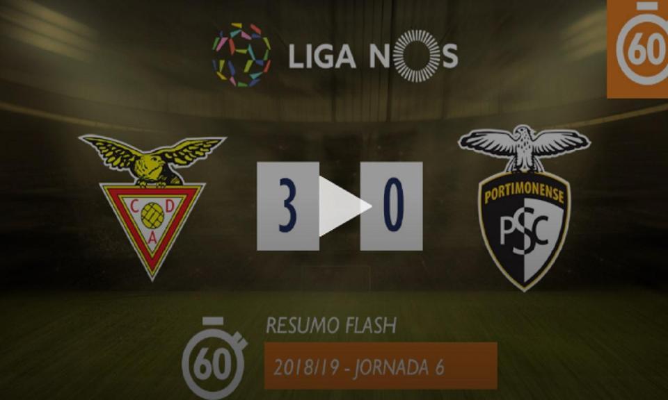 VÍDEO: o resumo da 1.ª vitória do Aves, com hat-trick de Vítor Gomes