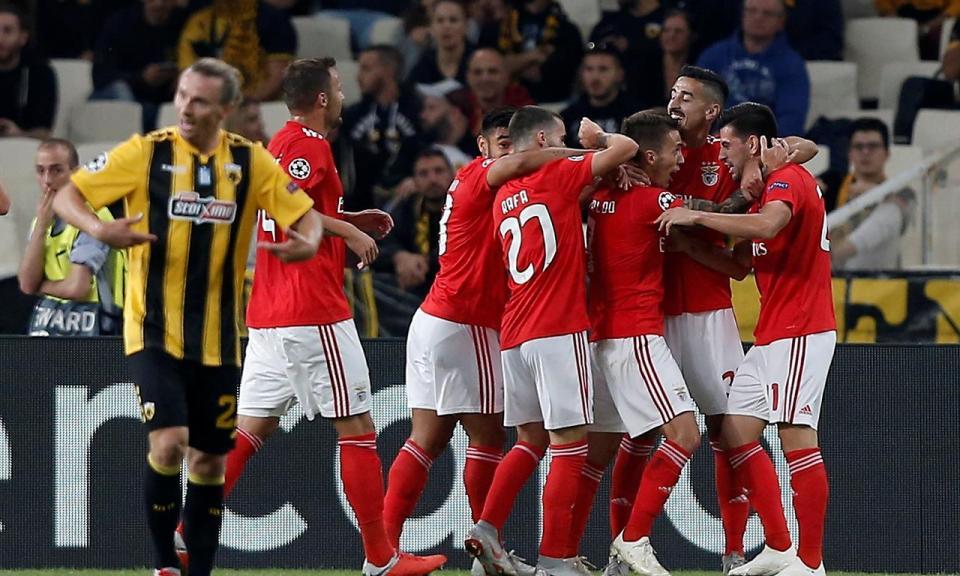 LC: AEK Atenas-Benfica, 2-3 (resultado final)