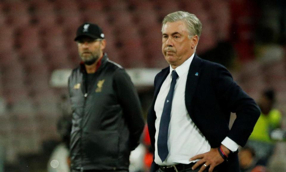 Ancelotti: «Este grupo não vai ser difícil apenas para o Nápoles»