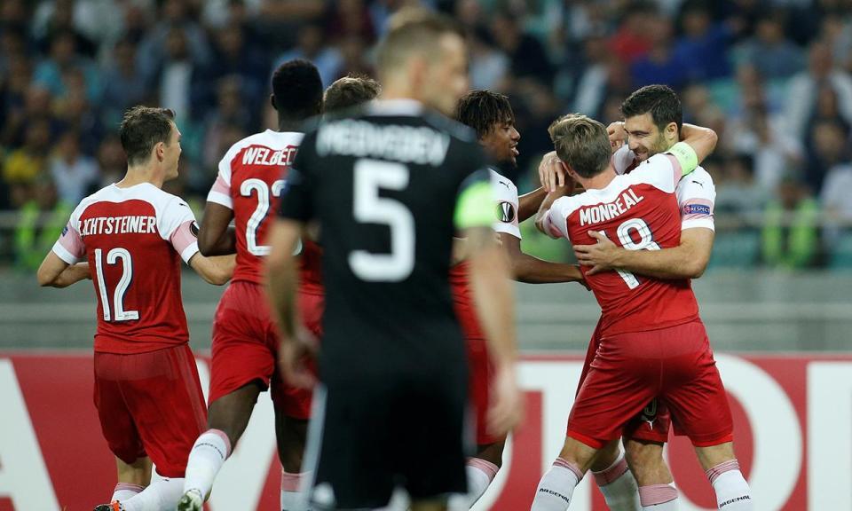 LE: Arsenal vence e segue na liderança do grupo com o Sporting