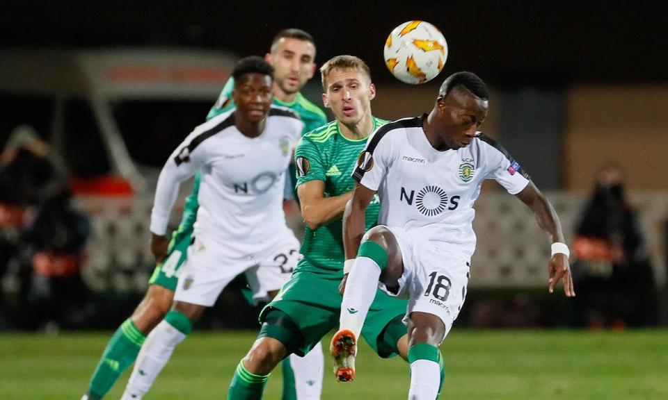LE: Vorskla Poltava-Sporting, 1-2 (resultado final)