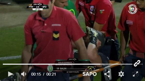 Sporting: Salin sofreu concussão cerebral mas está bem