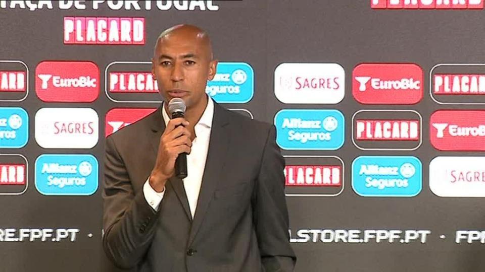 Luisão representou o Benfica no sorteio como convidado