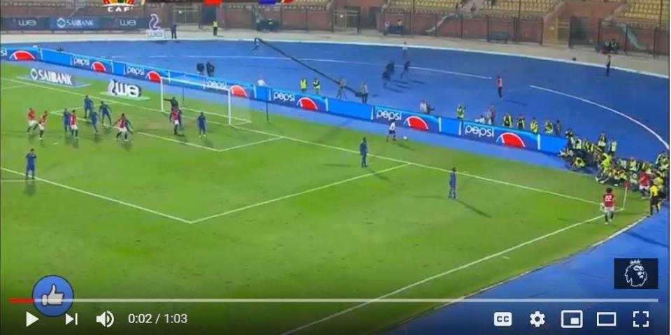 VÍDEO: Salah marca de canto direto pela seleção do Egipto