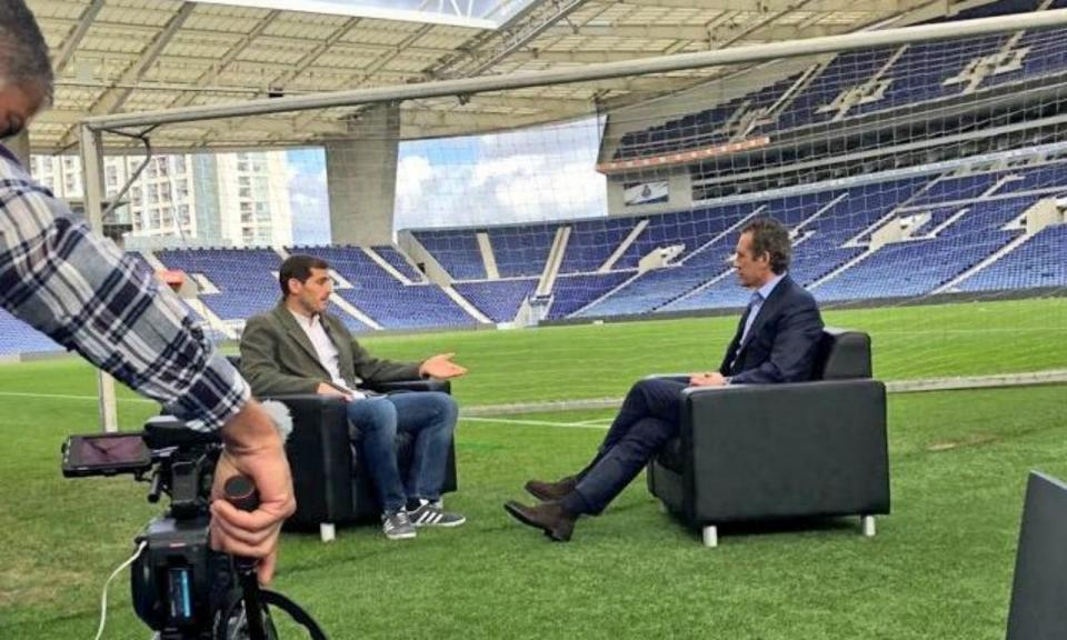 FOTO: Casillas com Valdano no Dragão: «É um prazer rever-te»
