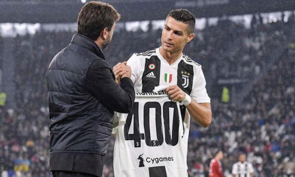 cb644bc499 Juventus assinala golo 400 de Ronaldo com presente especial ...