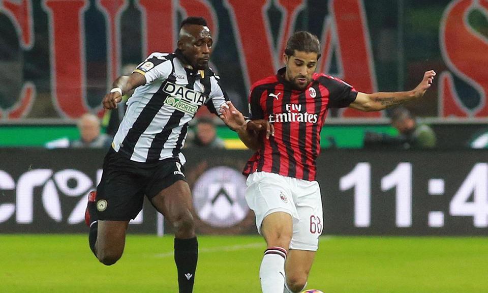 Itália: AC Milan passa em Udine com golo aos 90+7