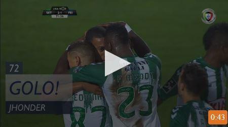 VÍDEO: poder de impulsão de Cádiz no golo da vitória sadina