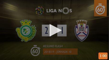 Vídeo: confira o resumo do V. Setúbal-Feirense (2-1)