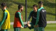 Seleção: Pizzi falou sobre Itália e Benfica no dia em que todos treinaram