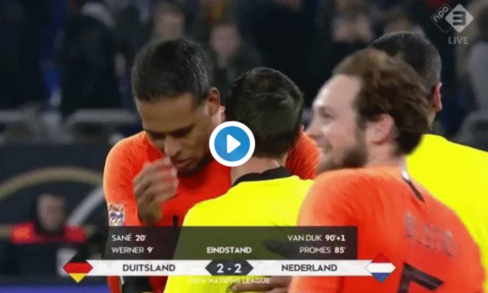 VÍDEO  árbitro do Alemanha-Holanda chorou no final pela morte da mãe ... 97d8a987fe50e