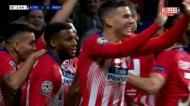Nem dois minutos estavam corridos quando Koke fez o primeiro em Madrid