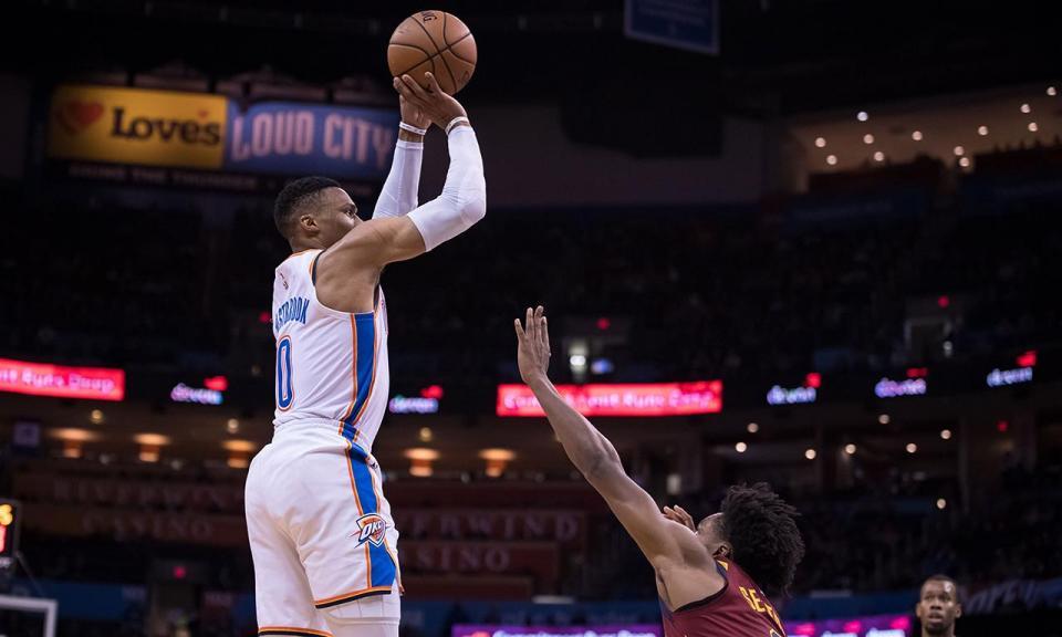 NBA: 47 pontos de Paul George e recorde de Westbrook na vitória dos Thunder