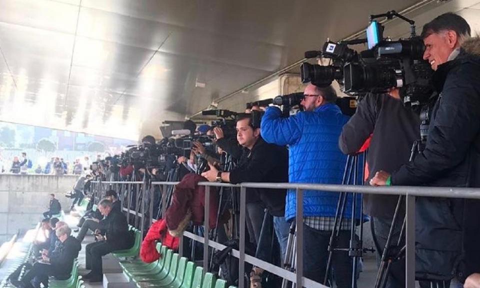 Libertadores: mais de 150 jornalistas no 1.º treino do Boca em Madrid