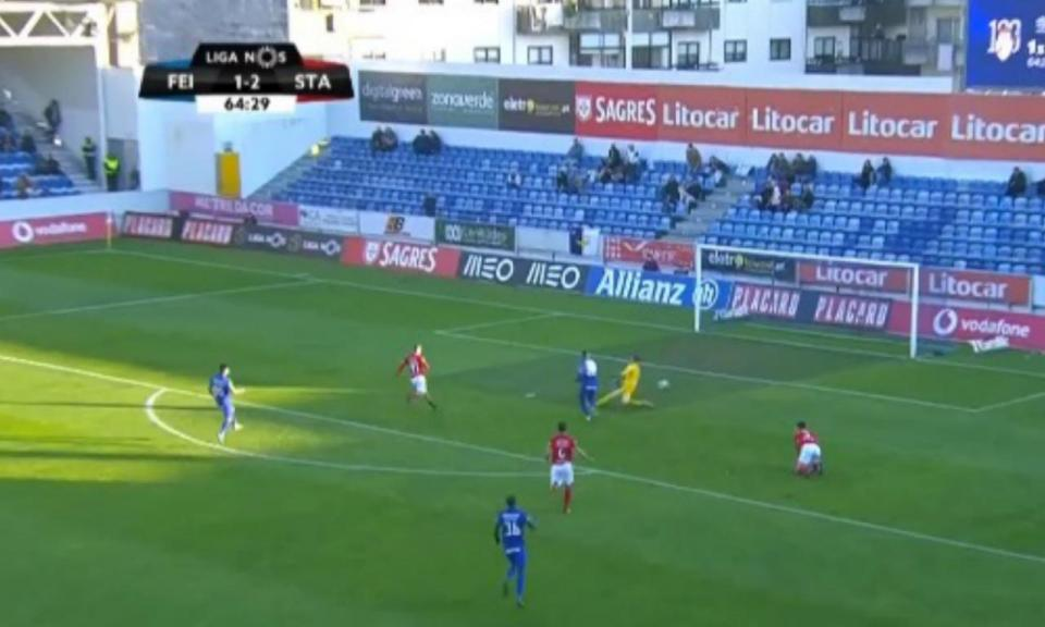 VÍDEO: Valencia faz o empate no Feirense-Santa Clara