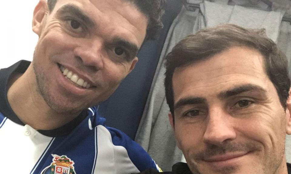 Casillas reencontra Pepe no FC Porto: «Bem-vindo»