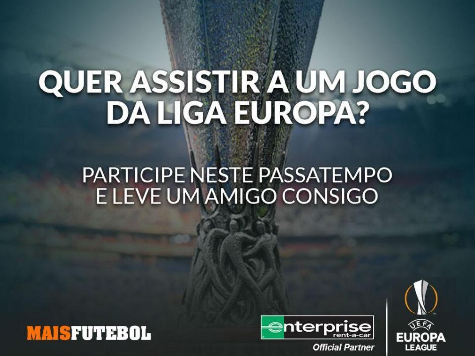 PASSATEMPO: ganhe um bilhete duplo e passe um dia com o troféu da Liga Europa