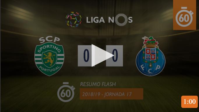 VÍDEO: veja os melhores momentos do Sporting-FC Porto