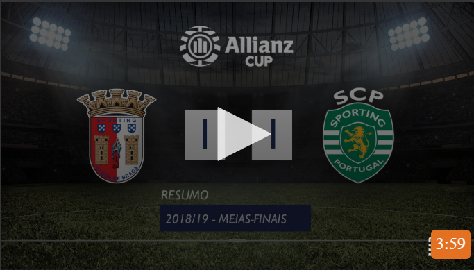 VÍDEO: o resumo do Sp. Braga-Sporting (1-1, 3-4, gp)