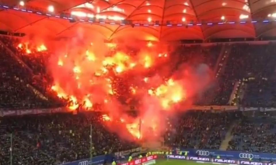 VÍDEO: a impressionante festa dos adeptos do Dínamo Dresden