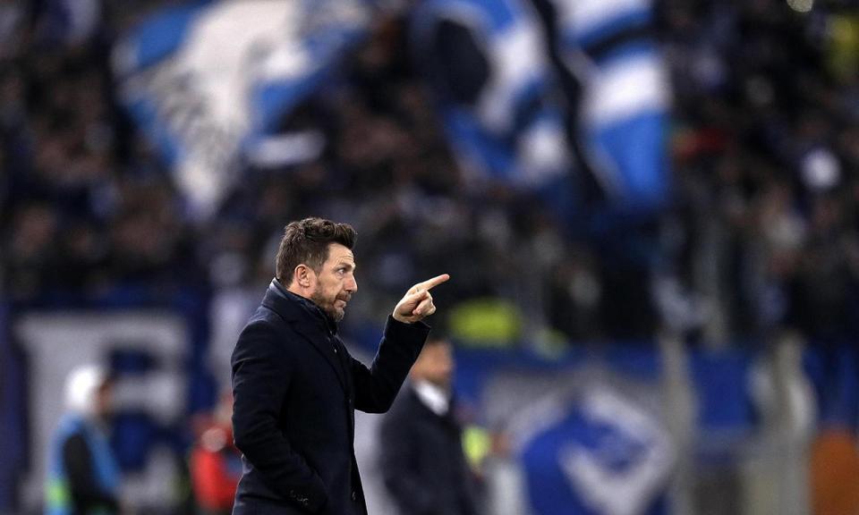 Di Francesco: «Se formos ao Dragão defender não vai correr bem»