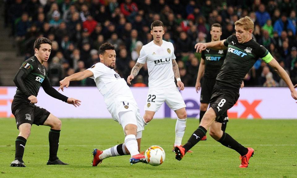 Liga Europa: golo de Gonçalo Guedes na compensação apura Valência