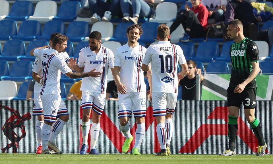 Sampdoria vence Sassuolo em jogo de loucos com oito golos