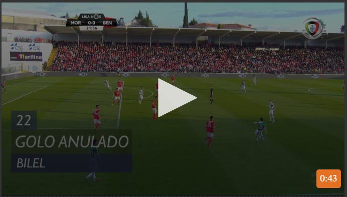 VÍDEO: golo anulado ao Moreirense por fora de jogo