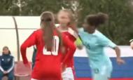 Troca de agressões em jogo sub-17 feminino (youtube)