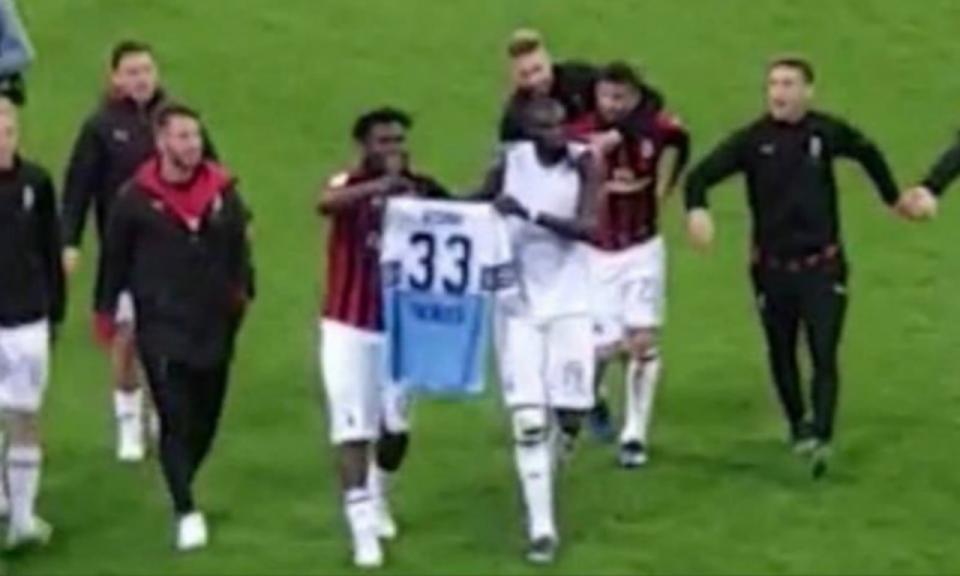 Milan-Lazio acaba em polémica por causa de troca de camisolas