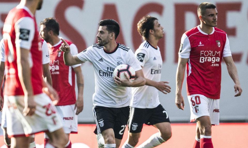 Sp. Braga-Benfica, 1-4 (destaques das águias)