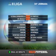 Jogos da 34ª e última jornada da II Liga